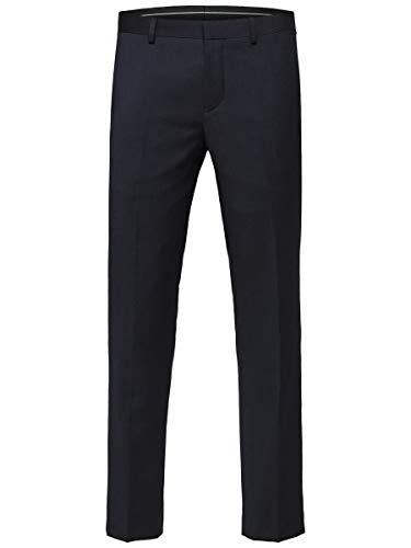 SELECTED HOMME Herren Slhslim-mylobill Navy Trouser B Noos Anzughose, Navy Blazer, 98 EU