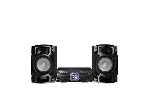 Panasonic SC-AKX320 High Power Heim-Soundset (450W, 16cm Woofer, 6cm Hochtöner, Bluetooth, Dual USB, CD, AUX, DJ Jukebox, DJ-Funktion, HiFi, Ton) schwarz