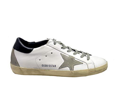 Golden Goose Zapatillas Superstar de piel blanca y azul Multicolor Size: 41.5 EU