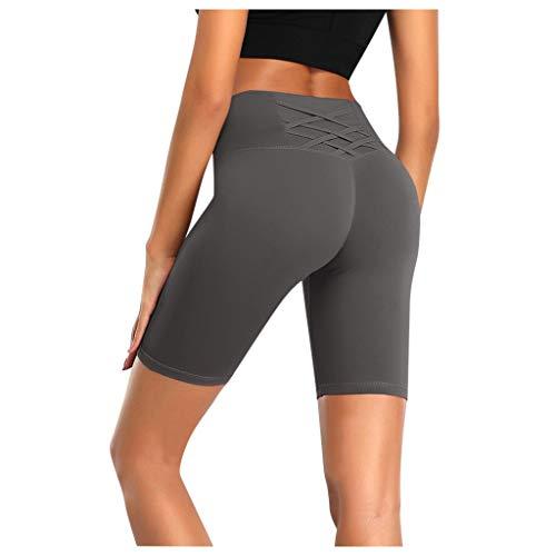 Deelin Trainingsbroek voor dames, voor gymnastiek, sport, korte mode, robuuste kleur, sexy, hoge taille, controle van de buik, hip raise fitness fiets broek leggings shorts