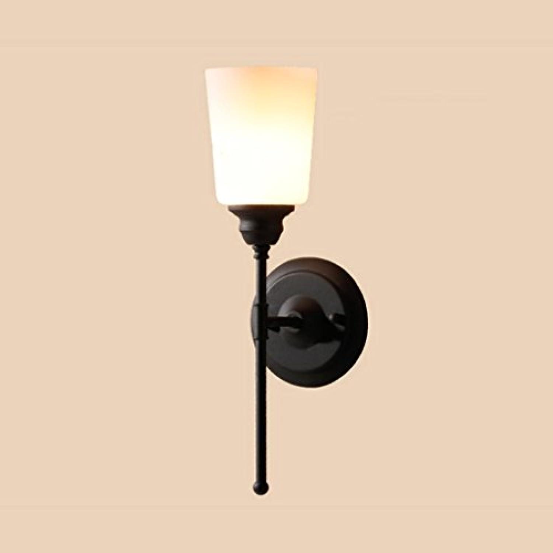 Wandleuchte Eisen Kunst moderne einfache Gang Bad Badezimmer Single Kopf Schlafzimmer Eingang Nachttischlampe Spiegellicht