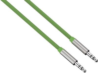 Hama HQ ALU AUX Kabel 3,5mm Klinke-Kabel Color Line Grün Klinken-Stecker Audio Handy MP3 Tablet