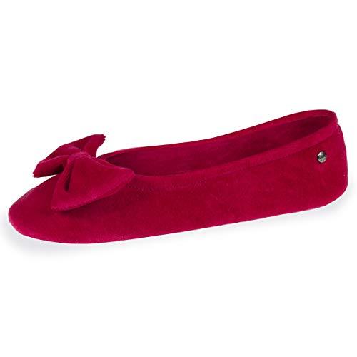 Zapatillas Isotoner para mujer, color Rojo, talla 35/36 EU