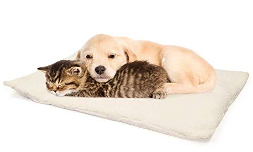 Ossian Magic - Cama térmica para mascotas con calefacción automática - Suave y cómodo cojín de lana de cordero de imitación para gato, perro, gato, cachorro, con núcleo que refleja el calor corporal y funda lavable a máquina con cremallera