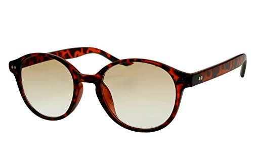 Lesebrillen mit Sonnenschutz Damen Herren rot schwarz gepunktet (Safari-look) rund glänzend getönt als Sonnenbrille leicht modern schmal Kunststoff 1.0 1.5 2.0 2.5 3.0, Dioptrien:Dioptrien 3.0