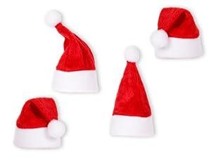 10 Mini-Deko-Weihnachtsmannmützen Weihnachtsmützen Weihnachtsdeko