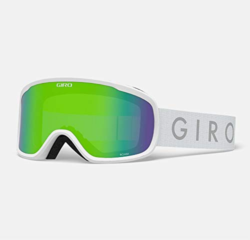 Giro Roam Adult Snow Goggle - White Core Strap with Loden Green/Yellow Lenses