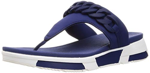 Fitflop Heda Chain Toe-Thongs, Sandales Bout Ouvert Femme, Bleu (Midnight Navy 399), 40 EU