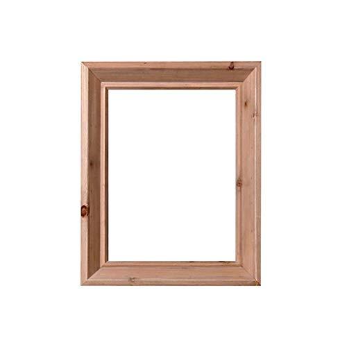 BXU-BG Espejo de baño de Madera sólida del Marco de Pared del Espejo de cortesía Espejo Y Pared de Afeitar Espejo Decorativo del Marco de Pared