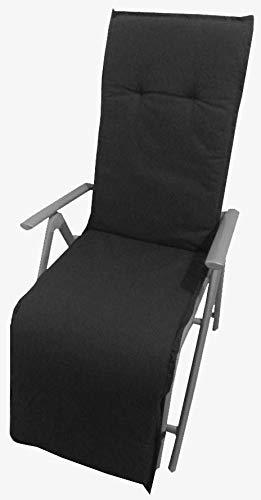 Relaxstuhl Sitzkissen // Gartenstuhlauflagen Polster für Gartenmöbel // anthrazit
