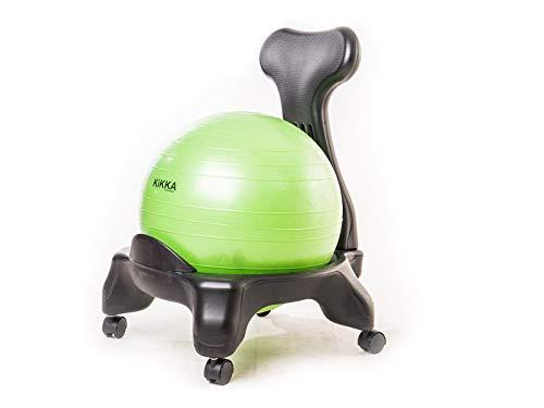 Kikka Active Chair Verde Chiaro - Sedia ergonomica con Pallone Gonfiabile