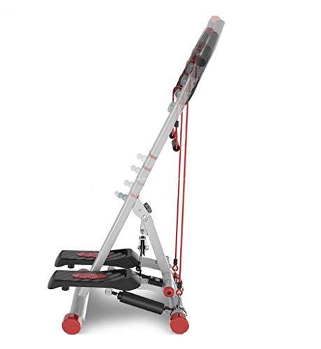 FGSJEJ Laufband Gewichtsverlust Maschine Treppe Stepper Übung Stepper Maschine Fitness Mini Stepper Treppe Stepper Trainingsgeräte mit Widerstand Bands (Color : White, Size : One Size)