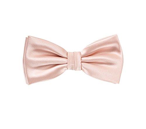 Puccini Herren Fliege für Männer, einfarbige/uni Schleife passend zum Smoking oder Anzug, bow-tie für den Mann in (Rosa)