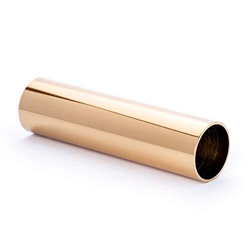 Kerzenhülse Ø 26 / 24mm aus Messing Metall, für Kronleuchter Lüster Chandelier Kerzenhülsen (gold, 100mm)