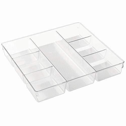 Size : A 8 Tailles//Forme pour s/éparer Les tiroirs de Cuisine LYY Organiseurs de tiroirs Bo/îte de Rangement en Plastique pour Couverts