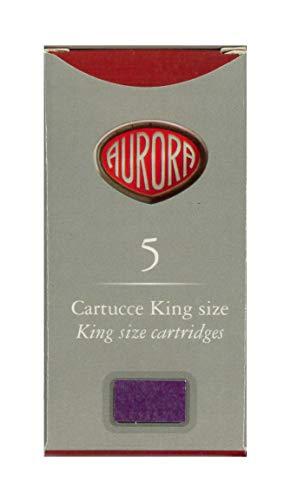 Scatola Cartucce Colorate Aurora King Size (8 Viola)