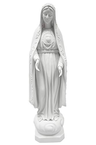 """24"""" Our Lady of Fatima Mary Italian Catholic Religious Statue Sculpture Figure Vittoria Collection Made in Italy"""