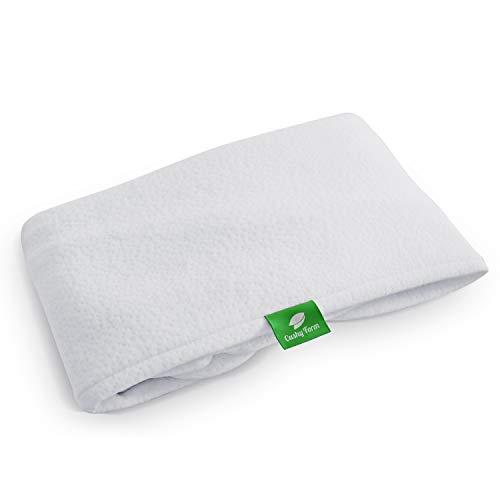 Funda de repuesto para almohada de cuña de cama, compatible con almohada de cuña con forma de cojín, hipoalergénica, lavable a máquina (solo funda de repuesto), Blanco, 12 Inch Pillow Cover