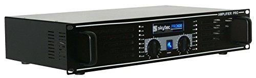 Skytec SKY-600B Haus Verkabelt Schwarz - Audioverstärker (0,5{7bcfaadbf97f137f5fb2668100947fec1c4a625c51363047a60b01ab728bdb43}, 98 dB, 1200 W, 600 W, 20 - 20000 Hz, 170-240)