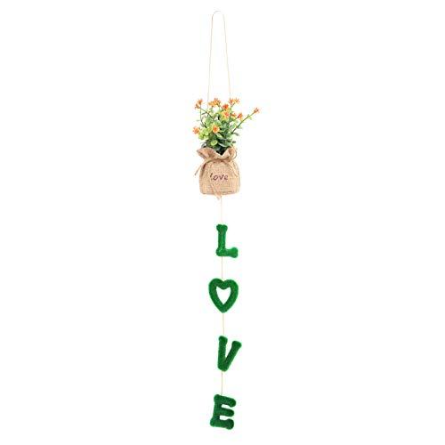 SALUTUYA Petite Plante en Pot à Suspendre au Mur, Petite Simulation en Pot, décorations d'artisanat d'amour pour Mariage pour Mur de Bureau
