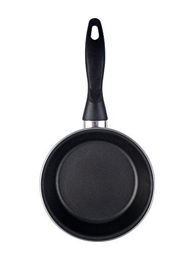 Magefesa Black sartén 26 cm de acero esmaltado , antiadherente bicapa reforzado, color negro exterior. Apta para todo tipo de cocinas, incluida inducción.