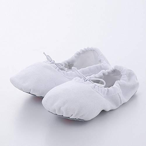 SKYROPNG Zapatillas De Ballet,Bebé Gimnasia Suela Suave Blanca Clásica Forma Zapatillas De Ballet Zapatos De Mujer Niñas Niños Adultos Niños 2 Pares