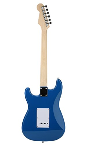 Juarez ST38 Electric Guitar Kit/Set, Right Handed, Blue, With Case/Bag & Picks