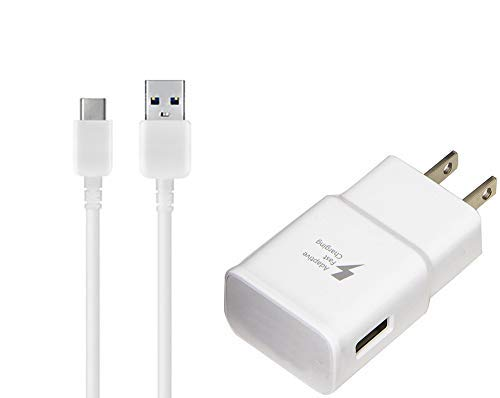 OEM Adaptive Fast Charger for Huawei Nexus 6P 15W with certified USB Type-C Data and Charging Cable. (WHITE/3.3FT/1M Cable)