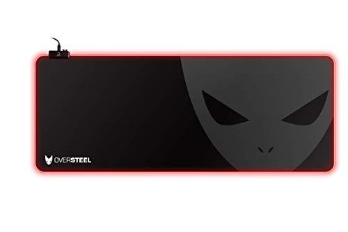 Oversteel MAGNALIUM RVB XL - Tapis de souris de gaming RVB, Taille XL (900x350x4mm)