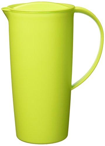 Rotho Caruba Krug mit Deckel 1.2 l, Kunststoff (BPA-frei), grün, 1,2 Liter (16 x 10,5 x 22 cm)