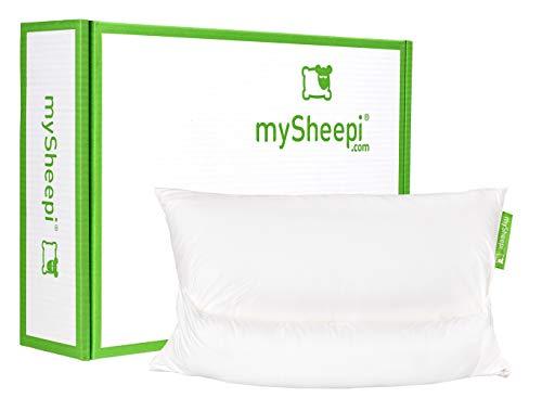 mySheepi Orthopädisches Schlafkissen Home 80 x 40 cm - Ergonomisches Kopfkissen Mit Medlinefüllung & Ergonomischer Nackenrolle
