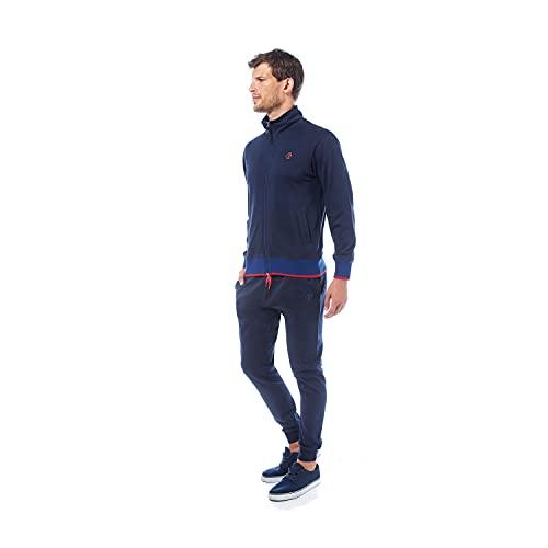 Nazareno Gabrielli Tuta Uomo – Full Zip 50% Cotone 50% Poliestere – Disponibile in Due Varianti Colore. Articolo scatolato