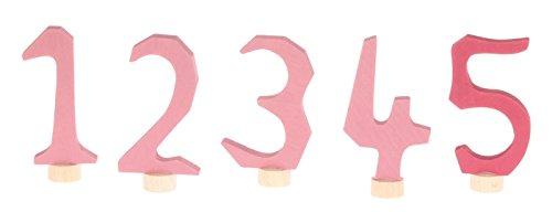 Grimms Spiel Und Holz Design Grimm's Zahlenstecker Set 1-5 in rosa