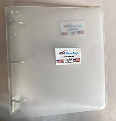 Lure Safe #30 Binder 3 Ring Clear Dodger and Flasher Sleeve Notebook Custom Made in The USA for Mauk Fishing Stuff