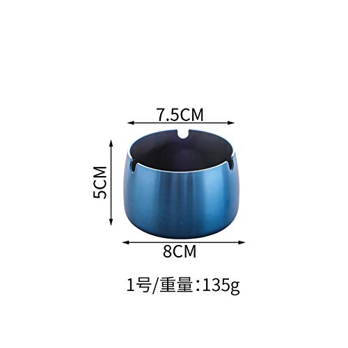Guo Hengbo Feld Kreative Edelstahl Aschenbecher kreative Anti-Fall Home Hotel Büro Wohnzimmer Schlafsaal KTV spezielle blau groß