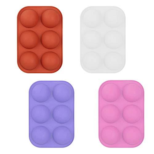 Zilosconcy Adventskalender Black Friday Angebote 2020 4PC Muffin Backblech für 6 Muffins, Antihaft Muffinform aus Porzellan, Backform für Muffins, Cupcakes, Pudding