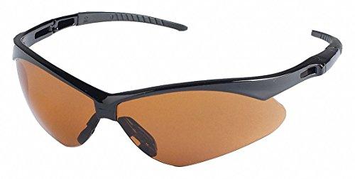 Jackson Safety V30 Nemesis Safety Eyewear, Copper Polycarbon Anti-Scratch Lenses, Black Frame 19642