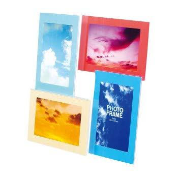 樹脂製のクリアフォトフレーム ナカバヤシ 樹脂製フォトフレーム ポストカード 4面 フ-TP-211-4W 〈簡易梱包
