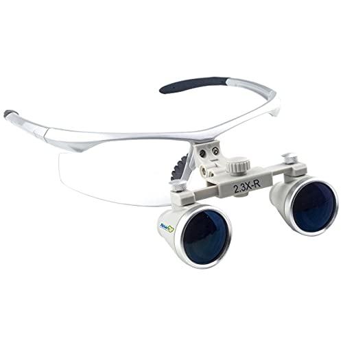 Spark 眼鏡式ヘッドルーペ 2.3倍歯外科手術手作業専用 銀色スポーツフレーム SH2.3 製作 機械 作業 生物研究 開発 手術 歯科 医用 医者 眼科 外科にも使える 拡大鏡 虫眼鏡 双眼ルーペ 時計見ルーペ