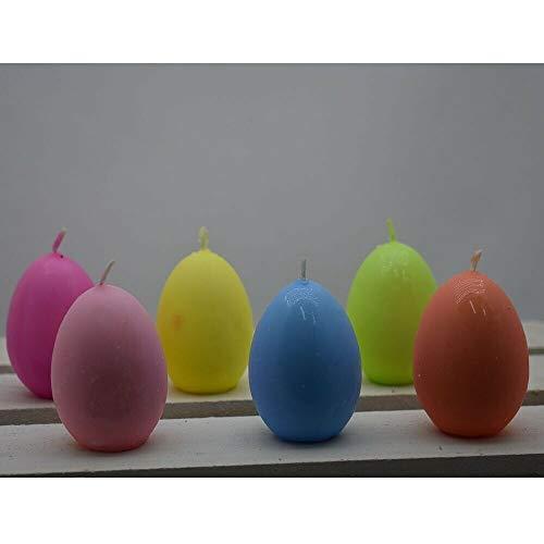 Decorazioni pasquali Candela Uova di Pasqua Cera da Centro tavola 6pz Colorati