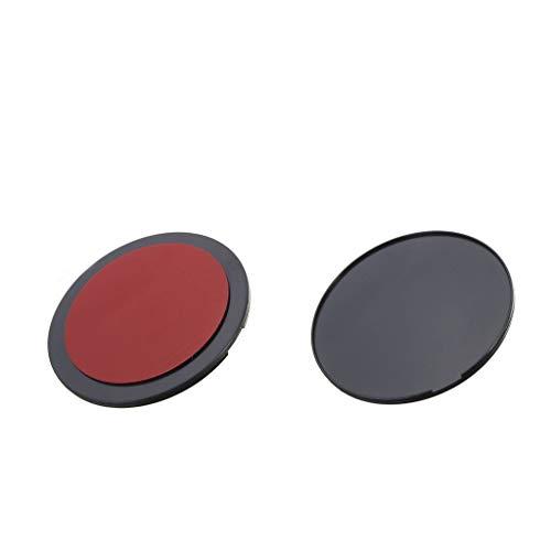 P Prettyia 2 Piezas Disco de Montaje Adhesivo 72mm para Paneles de Instrumentos de Coche Disco de Tablero para GPS Garmin Tomtom
