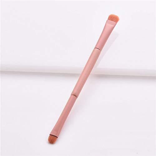 KDBHM Pinceau de Maquillage Rose Orange Micro Brush 1 Pc Poudre Libre Fond de Teint Correcteur Pinceaux Maquillage Lèvres Fard À Paupières Sourcils Cils Brosse,correcteur d'ombres à paupières