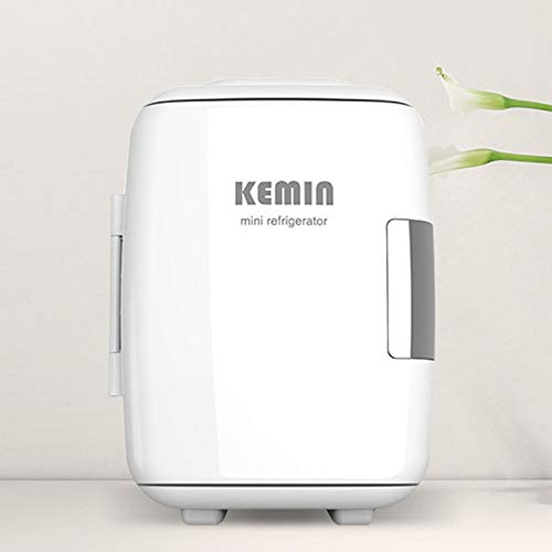 GAOXIAOMEI Mini Nevera 4 L para Enfriar Y Calentar, Mini Refrigerador Portátil 12 V/220 V para Coche Y Casa, Mini-Frigorífico Termoeléctrica Nevera