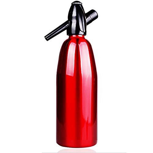 BESTONZON Soda Siphon Soda Flaschenhersteller Carbonator 1000ML (Rot)