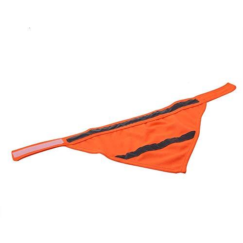 Qiterr Netter reflektierender Haustier-Hundewelpen-Schal-Kragen-Lätzchen-Halstuch (M-Fluoreszierende Orange)
