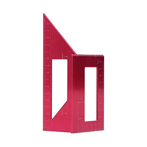 Regla de ángulo, calibre de inglete de precisión de 1 mm Ahorre tiempo con diseño ergonómico para la ayuda de marcado de carpintería(red)