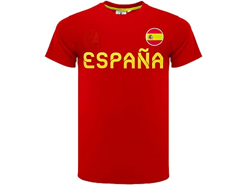 Camiseta de fútbol oficial de España 2020 modelo Neutro Material 100% Poliéster...