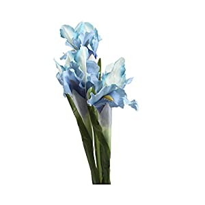 Silk Flower Arrangements MUZIBLUE Artificial Flowers Bouquet| 5pcs White Iris Artificial Flower Decorative Fake Flowers Display Silk Flower for Home Wedding Decoration