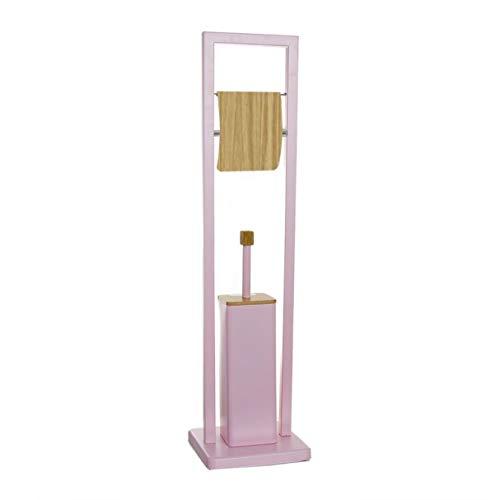 Vidal Regalos Escobillero WC con Portarollos Bambu Rosa