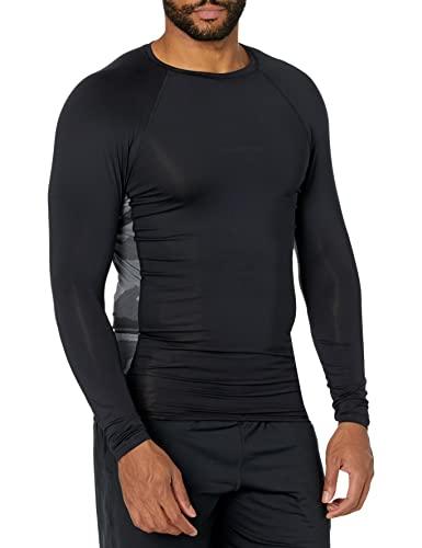 Quiksilver Boat Tripper Long Sleeve Rashguard Surf Shirt Maglietta Rash Guard, Grigio Asfalto, L Uomo